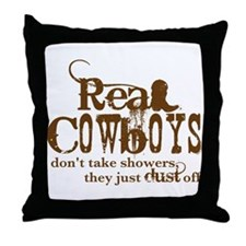 Real Cowboys Throw Pillow