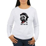 Chairman Pug - Women's Long Sleeve T-Shirt