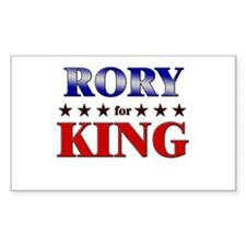 RORY for king Rectangle Decal
