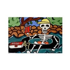Rectangle Magnet with Day of the Dead Tuber