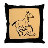 Polo Pony Throw Pillow
