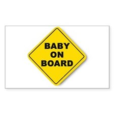 Baby on Board Rectangle Decal
