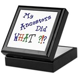 Did What? (blue) Keepsake Box