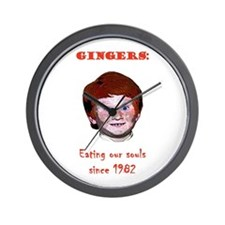 Soul Eating Ginger Wall Clock