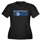 Basketball Coach Women's Plus Size V-Neck Dark T-S