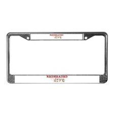 Redheaded Irish Diva License Plate Frame