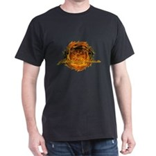 Round Flame Firefighter T-Shirt