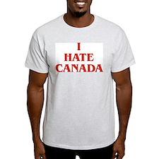 I Hate Canada T-Shirt Ash Grey T-Shirt