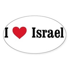 I Heart Israel Oval Decal