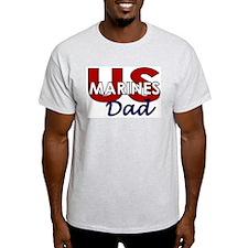 US Marines Dad Ash Grey T-Shirt