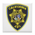 California A.B.C. Tile Coaster