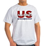 US Marines Grandparent Ash Grey T-Shirt