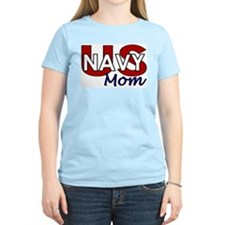 US Navy Mom Women's Pink T-Shirt