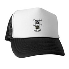 Think Adopt Love (dogs) Hat