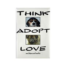 Think Adopt Love (dogs) Rectangle Magnet (100 pack