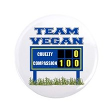 "Team Vegan 3.5"" Button (100 pack)"