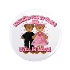"10th Anniversay Teddy Bears 3.5"" Button"