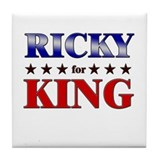 RICKY for king Tile Coaster