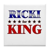 RICKI for king Tile Coaster