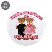 "25th Anniversay Bears 3.5"" Button (10 pack)"