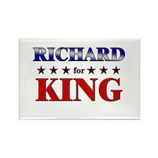 RICHARD for king Rectangle Magnet