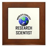 World's Coolest RESEARCH SCIENTIST Framed Tile