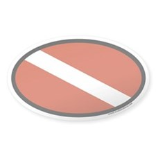 Scuba Diver Flag Oval Decal