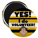 "Yes I Volunteer 2.25"" Magnet (10 pack)"