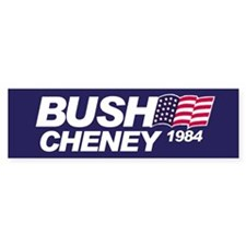 Buch/Cheney 1984 Bumper Car Sticker