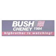 Bush Cheney 1984 Bumper Car Sticker