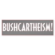 Bushcarthiesm Bumper Car Sticker