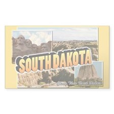 South Dakota Rectangle Decal