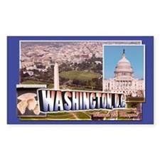 Washington, DC Rectangle Decal