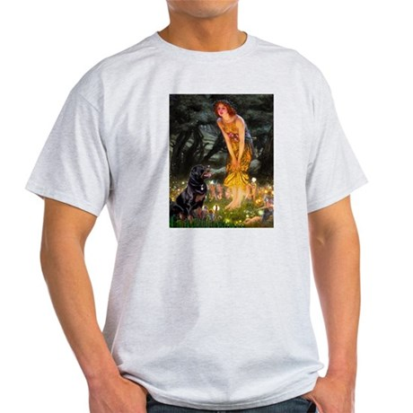 Fairies with Rottie Light T-Shirt
