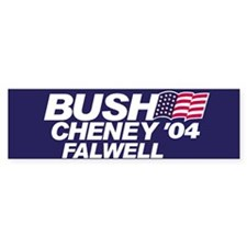Bush, Cheney, Falwell Bumper Car Sticker
