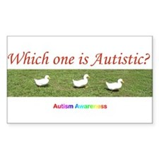 Which one is autistic? Rectangle Decal