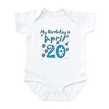 April 20th Birthday Infant Bodysuit