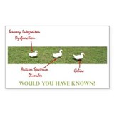 Disability Ducks Rectangle Bumper Stickers