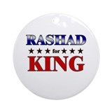 RASHAD for king Ornament (Round)