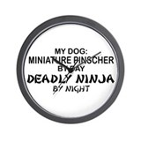 Min Pin 2 Deadly Ninja Wall Clock
