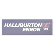 Halliburton/Enron '04 Bumper Car Sticker