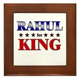 RAHUL for king Framed Tile