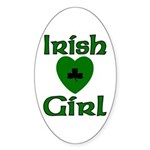 Irish Girl Oval Sticker