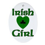 Irish Girl Oval Ornament