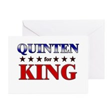 QUINTEN for king Greeting Cards (Pk of 10)