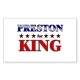 PRESTON for king Rectangle Decal