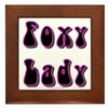Foxy Lady Framed Tile