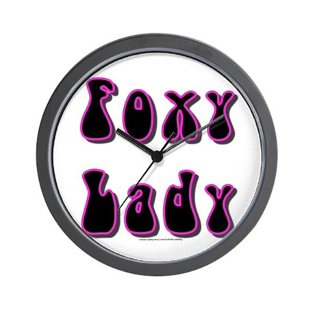Foxy Lady Wall Clock