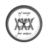 Straight Edge Wall Clock