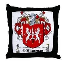 O'Finnegan Family Crest Throw Pillow